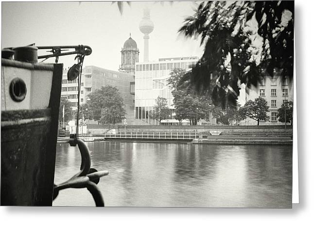 Analog Black And White Photography - Berlin - Maerkisches Ufer Greeting Card by Alexander Voss