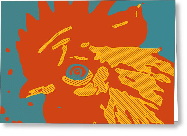 Analog Rooster Rocks Greeting Card