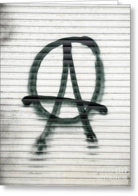 Anarchist Symbol Greeting Card