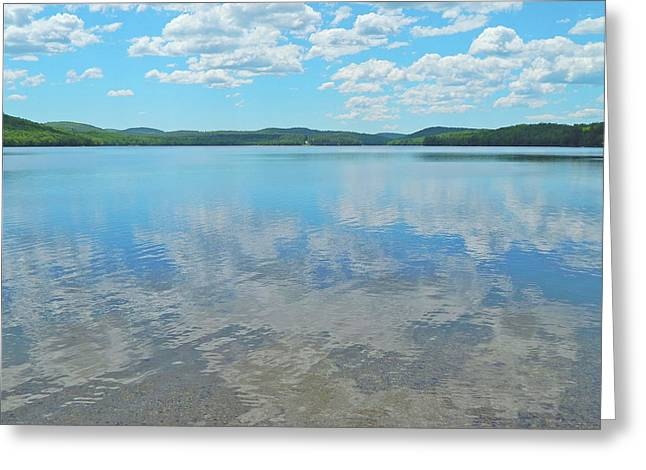 Anasagunticook Lake, Canton, Me, Usa 10 Greeting Card