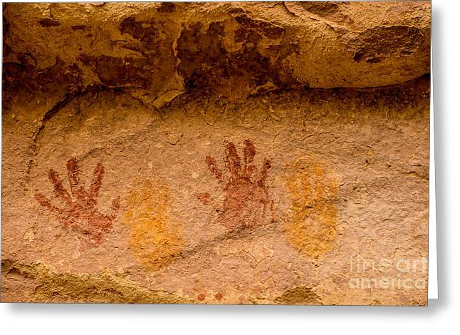 Anasazi Painted Handprints - Utah Greeting Card