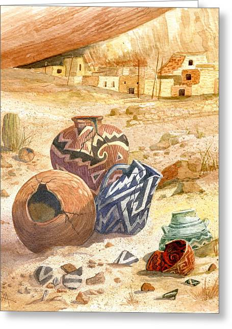 Anasazi Remnants Greeting Card by Marilyn Smith