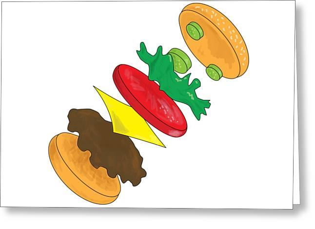 Anatomy Of Cheeseburger Greeting Card