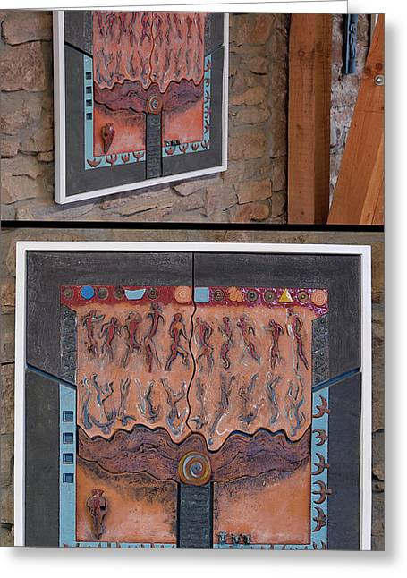 Ancestral Chart- Hunter Gatherers - Jakt Og Sanking - Jaegara Samlare - Sammler Jaeger Greeting Card by Urft Valley Art