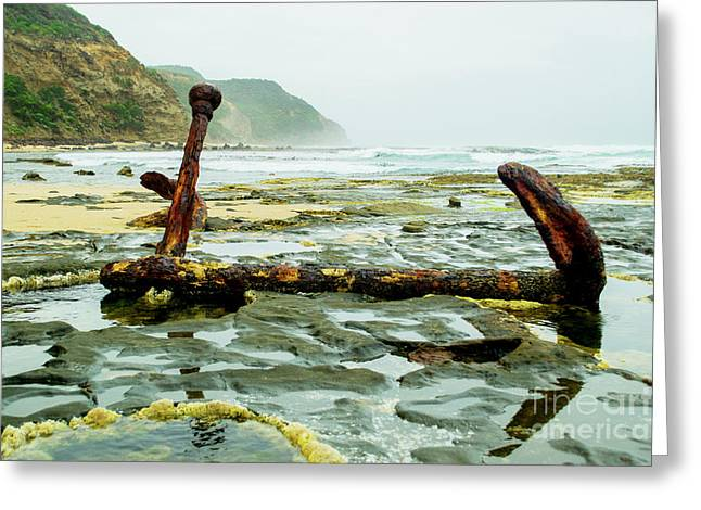 Greeting Card featuring the photograph Anchor At Rest by Angela DeFrias