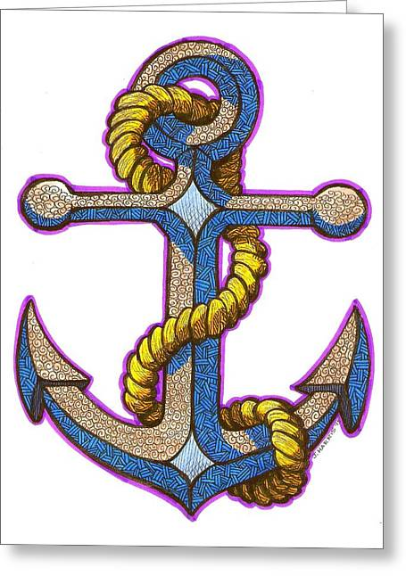 Anchor Colorized Greeting Card