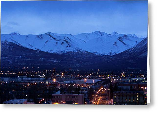 Anchorage At Sunrise Greeting Card