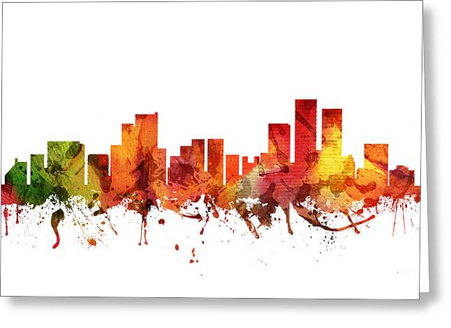 Anchorage Cityscape 04 Greeting Card