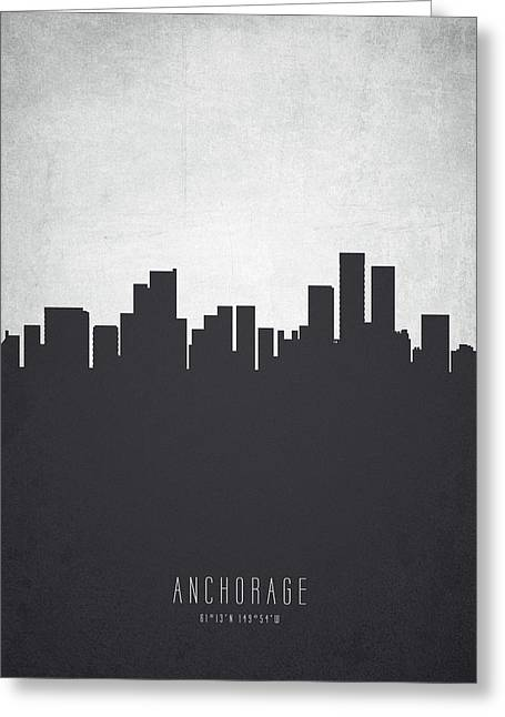 Anchorage Cityscape 19 Greeting Card