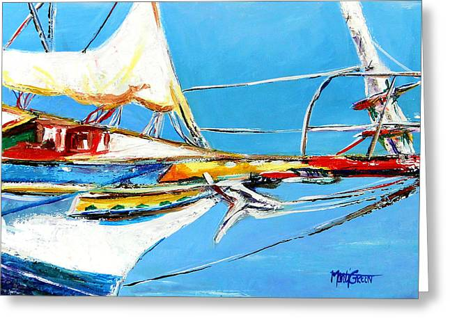 Anchored 2 Greeting Card by Marti Green