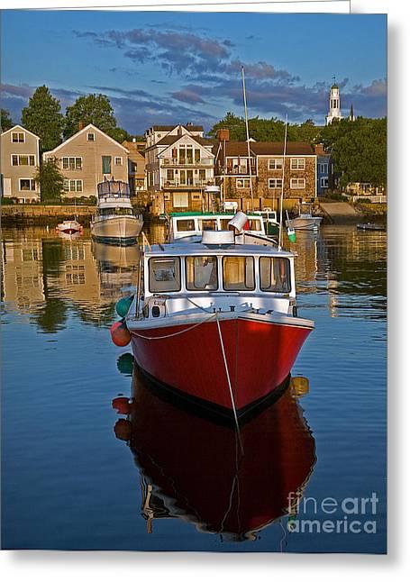 Anchored At Cape Ann Greeting Card