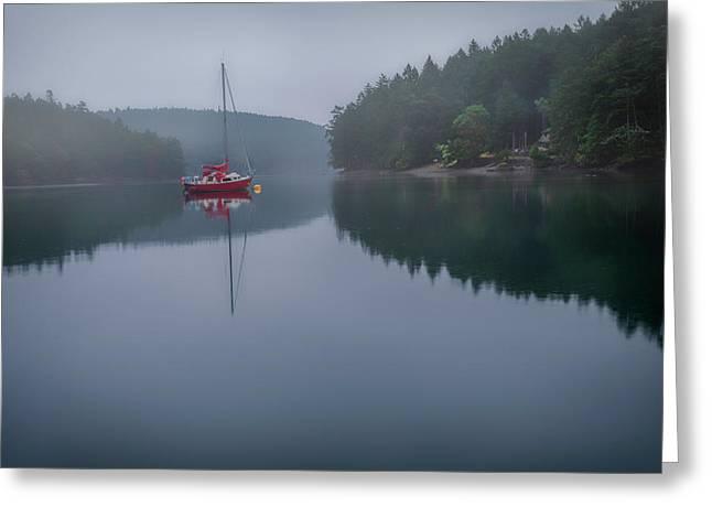 Anchored At Horton Bay Greeting Card
