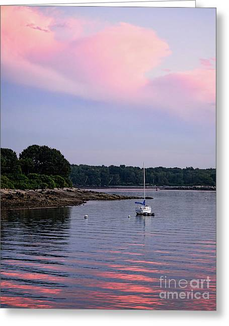 Anchored At Peaks Island, Maine  -07828 Greeting Card