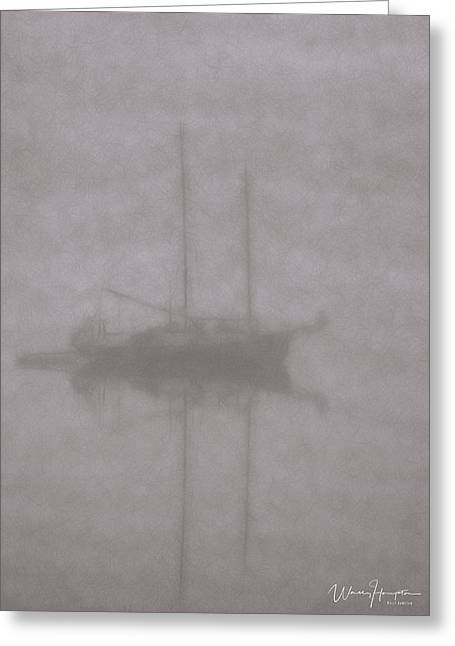 Anchored In Fog #1 Greeting Card by Wally Hampton