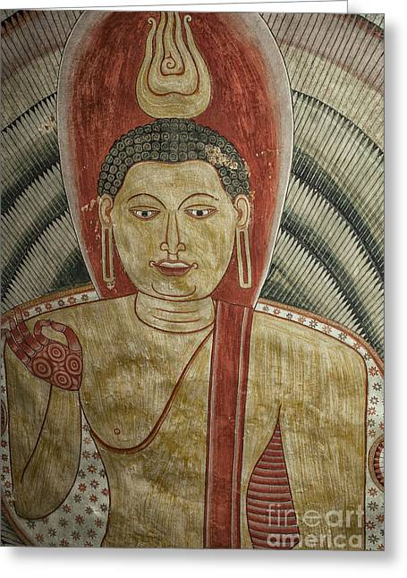 Ancient Buddha Painting In A Cave Greeting Card