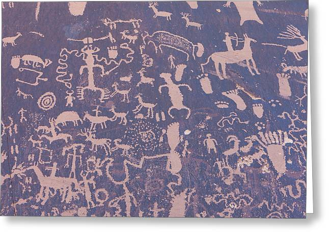 Ancient Carvings Greeting Card