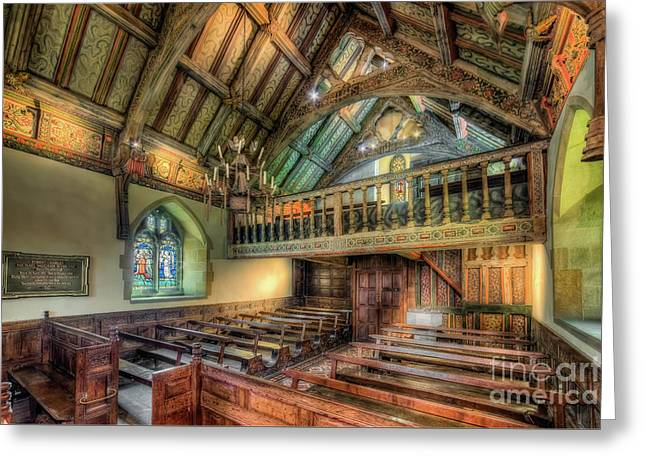 Ancient Chapel Interior Greeting Card by Adrian Evans