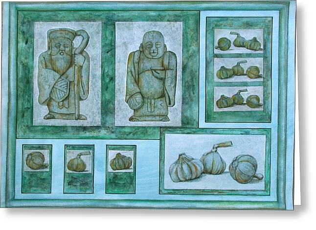Ancient Cures Greeting Card by Sandy Clift