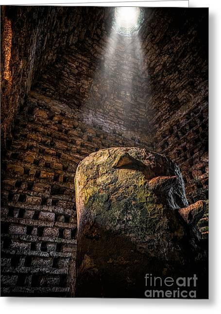 Ancient Dovecote Greeting Card by Adrian Evans