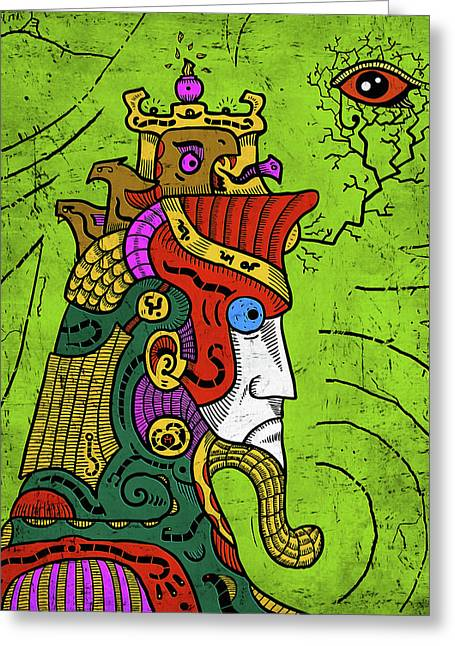Greeting Card featuring the digital art Ancient Egypt Pharaoh by Sotuland Art