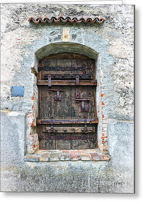 Ancient Gothic Door Greeting Card by Jutta Maria Pusl