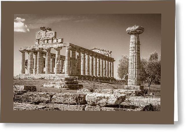 Ancient Paestum Architecture Greeting Card