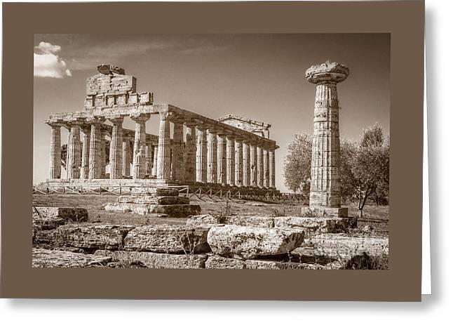 Ancient Paestum Architecture Greeting Card