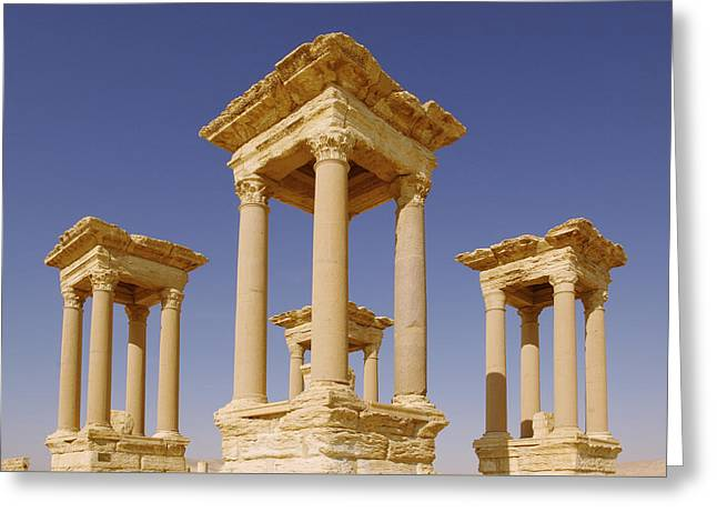Ancient Palmyra Greeting Card by Roman School