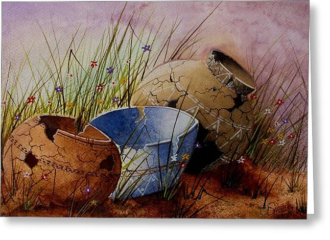 Ancient Relics A Paint Along With Jerry Yarnell' Study. Greeting Card by Jimmy Smith