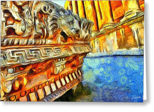 Ancient Remembrances - Pa Greeting Card by Leonardo Digenio