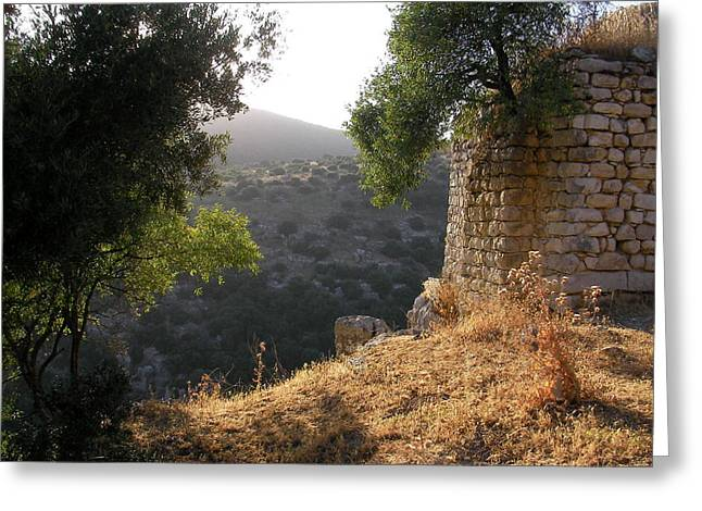 Ancient Ruins With An Older View Greeting Card by Yonatan Frimer Maze Artist