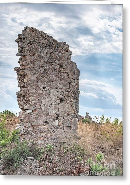 Ancient Shop Ruins In Side Greeting Card by Antony McAulay