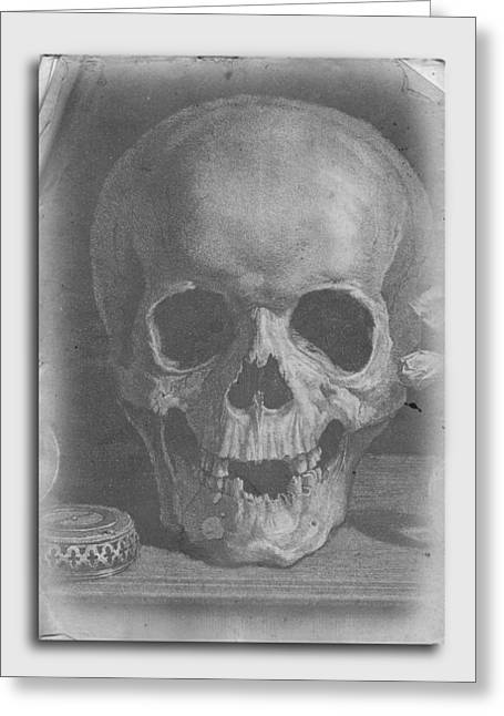 Ancient Skull Tee Greeting Card by Edward Fielding
