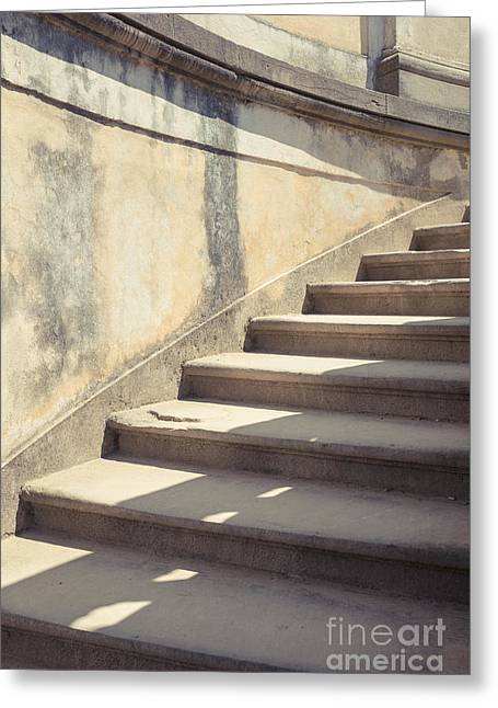 Decent Greeting Cards - Ancient Stairs Greeting Card by Edward Fielding