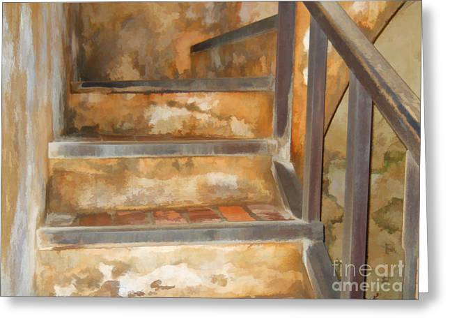 Ancient Stairway Greeting Card