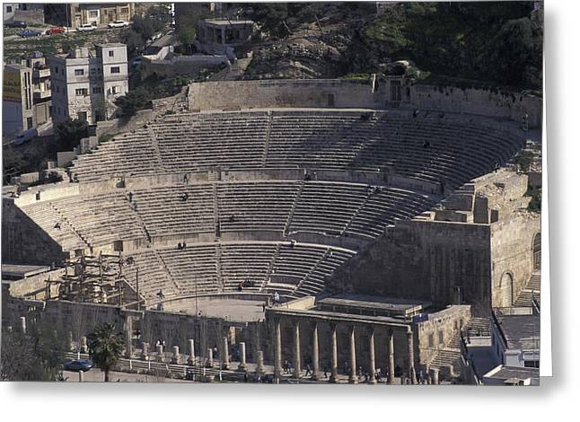 Ancient Theater In Ancient Roman City Greeting Card by Richard Nowitz
