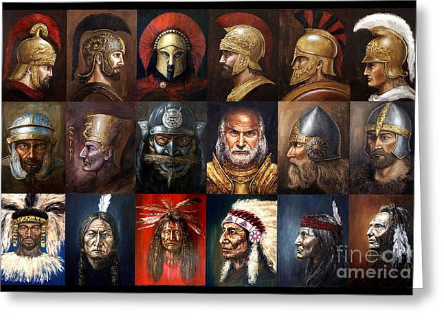 Ancient Warriors Greeting Card by Arturas Slapsys