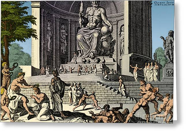 Ancient Wonder Of The World, Zeus Greeting Card by Science Source