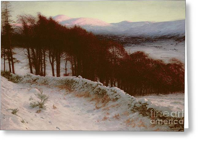 And All The Air A Solemn Silence Holds Greeting Card by Joseph Farquharson