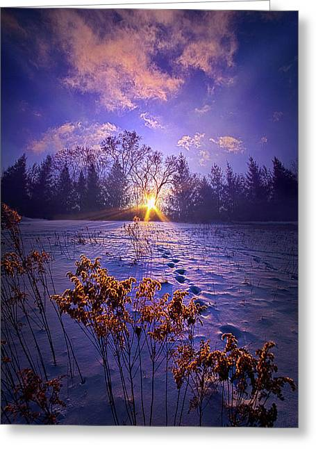 Greeting Card featuring the photograph And Back Again by Phil Koch
