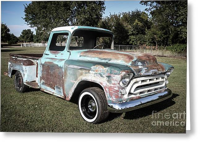 And Chevrolet Greeting Card by Laura Deerwester