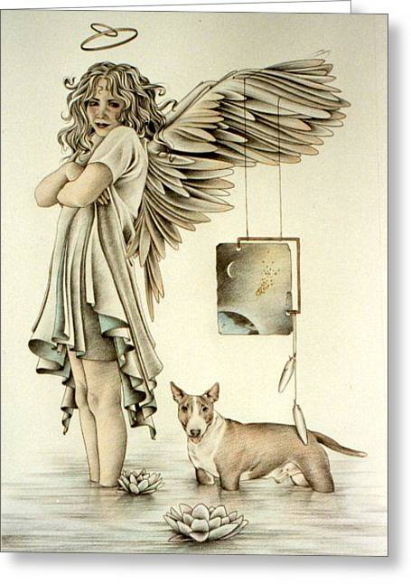 And Dogs And Angels Follow Right Behind Greeting Card