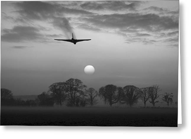 And Finally Black And White Version Greeting Card