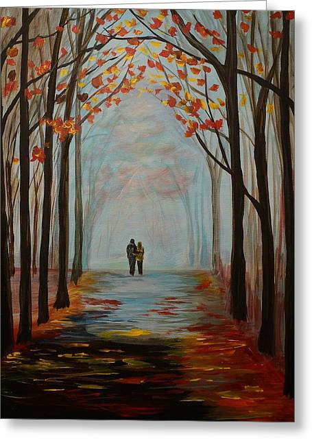 Couple In Arms Greeting Cards - And I Love You So Greeting Card by Leslie Allen