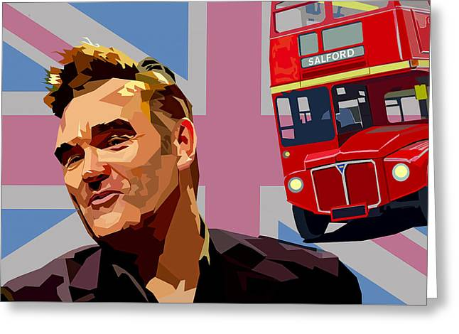 And If A Double Decker Bus Greeting Card by Mal Bray