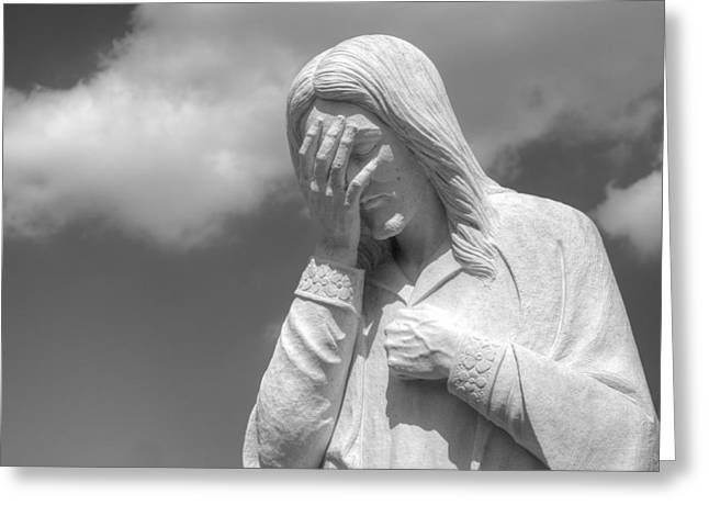 And Jesus Wept II Greeting Card by Ricky Barnard