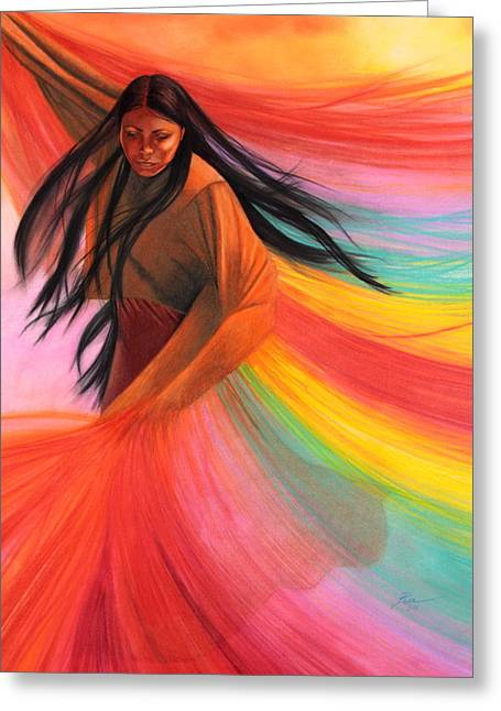 And So We Dance Greeting Card by Maria Hathaway Spencer