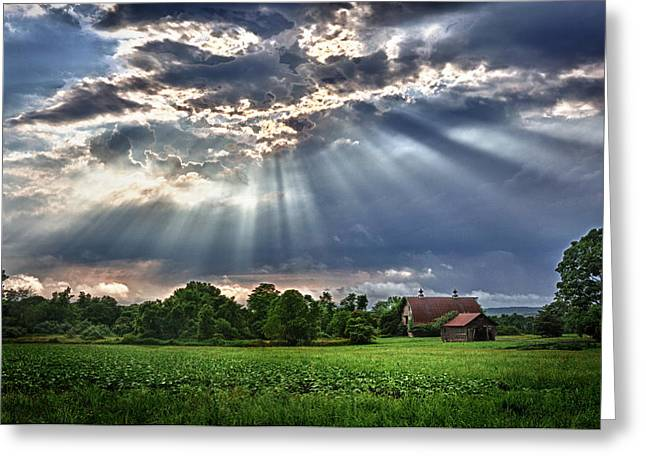 And The Heavens Opened 1 Greeting Card by Mark Fuller