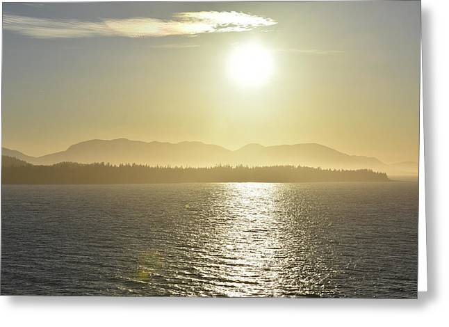 And The Sun Goes Down Greeting Card