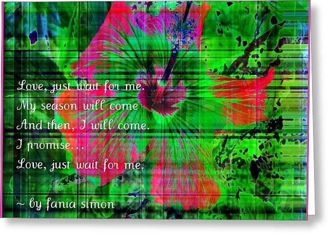 And Then I Will Come Greeting Card by Fania Simon